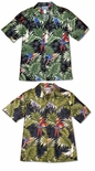 Parrot Monstera Men's 5X aloha Shirt