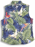 Parrots Monstera Women's Sleeveless Blouse