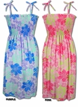 Pastel Floral Hawaiian clothing sun dress