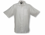 Pavilion Men's Weekender Wedding White Linen Shirt