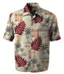 Peaceful Hawaiian Icons men's print aloha shirt