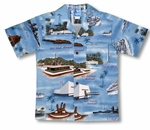 Pearl Harbor Remembered boy's Hawaiian shirt