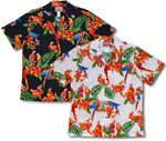 Perched Parrots men's cotton hawaiian shirt
