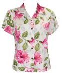 Petra Hibiscus Womens Fitted Blouse