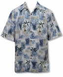 Petro Tapa Ancient Petroglyphs Men's Cotton Aloha Shirt