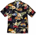 Pick-Up Truck Woodie Surfer Men's Shirt