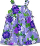 Pikake Floral Lei side tie bungee strap aloha style girls dress