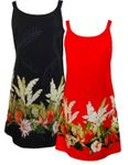Pineapple Banana Garden Women's Border A-Line Dress