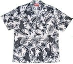 Pineapple Hibiscus mens RJC made in Hawaii aloha shirt