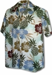 Pineapple Hibiscus Men's Shirt