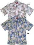 Pineapple Monstera Reverse Print Aloha Shirt