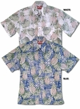 Pineapple Monstera Businessman's Reverse Aloha Shirt