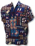 Pineapple, Outrigger, Turtle Men's Terivoile Aloha Shirt