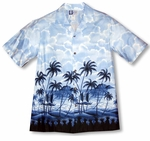 Pineapples View Men's cotton aloha Shirt