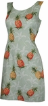 CLOSEOUT JUNIOR Pineapple Tropic petite fitted dress XS