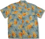 Pineapples - Newest Version Men's Paradise Found 100% Rayon Shirt