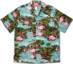 Pink Flamingo Jungle men's shirt