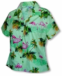Pink Flamingo Paradise Women's Fitted Blouse