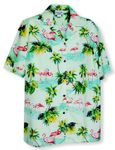 Pink Flamingo Paradise Men's Shirt