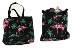 Pink Flamingo Beach Tote Bag