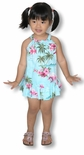 Pink Flamingo Hibiscus girl's cotton Hawaiian halter 2 piece set