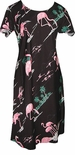 CLOSEOUT Pink Flamingo Original A Line Cap Sleeve Dress