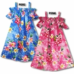 Pink Orchid Peek-a-Boo girl's a line dress