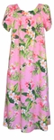 Orchid Plumeria women's ankle length muu muu to Plus 3X