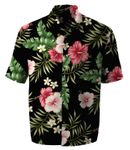 Pink Red Hibiscus Men's Rayon Aloha Shirt