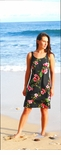 Plumeria Bamboo Panel Bias Slip dress