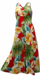 Plumeria Beauty Women's Button Front Long Dress