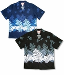 Plumeria Fern men's cotton aloha shirt