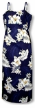 Plumeria Hibiscus Feather Fern Womens Long Sundress