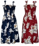 Plumeria Hibiscus ladies tube dress & matching family styles