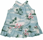 CLOSEOUT Plumeria Island Girl's Halter 2pc