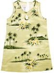 Plumeria Island Girl's A Line Key Hole Short Tank Dress