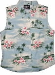 Plumeria Island Women's Sleeveless Blouse