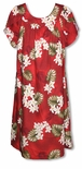 Plumeria Monstera made in Hawaii muu muu dress