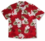 CLOSEOUT Plumeria Monstera men's shirt