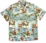 CLOSEOUT Plumeria Ocean Men's Shirt