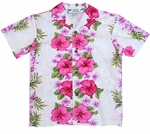 Plumeria Panel Boy's Cotton Shirt