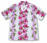 Plumeria Panel Men's Shirt