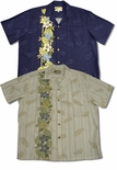 Plumeria Panel men's paradise found shirt