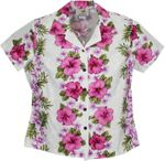 Plumeria Panels Women's Fitted Blouse