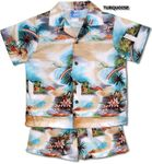 Plumeria Rainbow boy's cotton cabana set