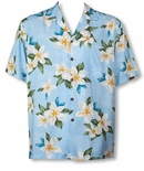 Plumeria Shower men's Hawaiian shirt