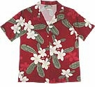 Plumeria women's paradise found shirt
