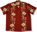 Poinsettia Panel Men's Christmas Shirt
