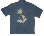 Polly Knows Best Men's Luau Embroidered Shirt