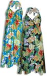 Polynesian Bouquet Women's Halter Dress